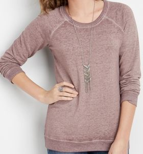 NWT Maurices Basic Scoopneck Sweatshirt.